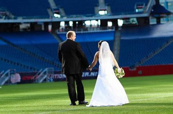Ceremonia en Estadio de Fútbol